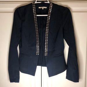 Navy Blue Blazer Jacket with Rhinestones NWOT